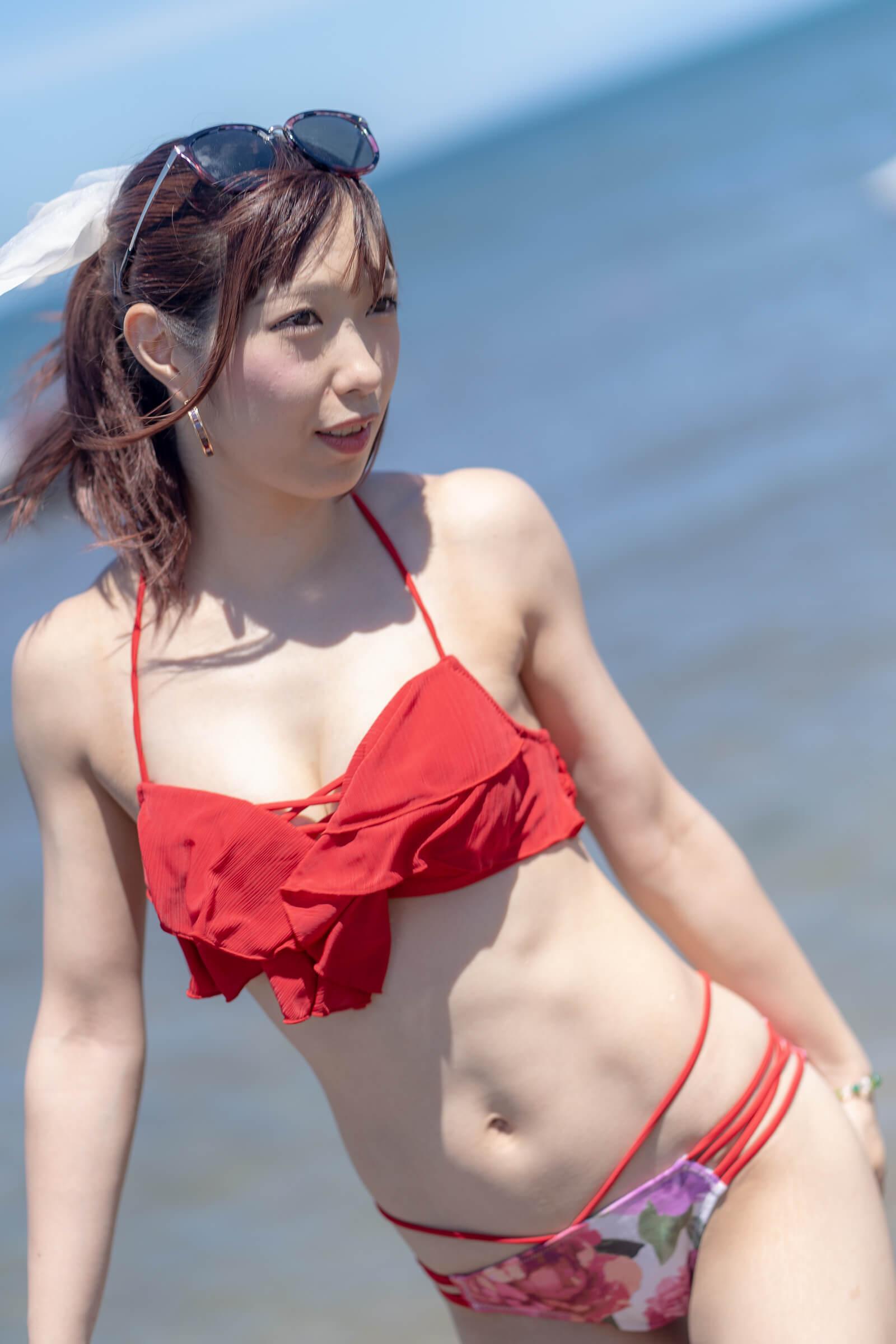 フルーティー♡ おばち ( 小原優花 )   ライブプロ海イベント2018水着撮影会