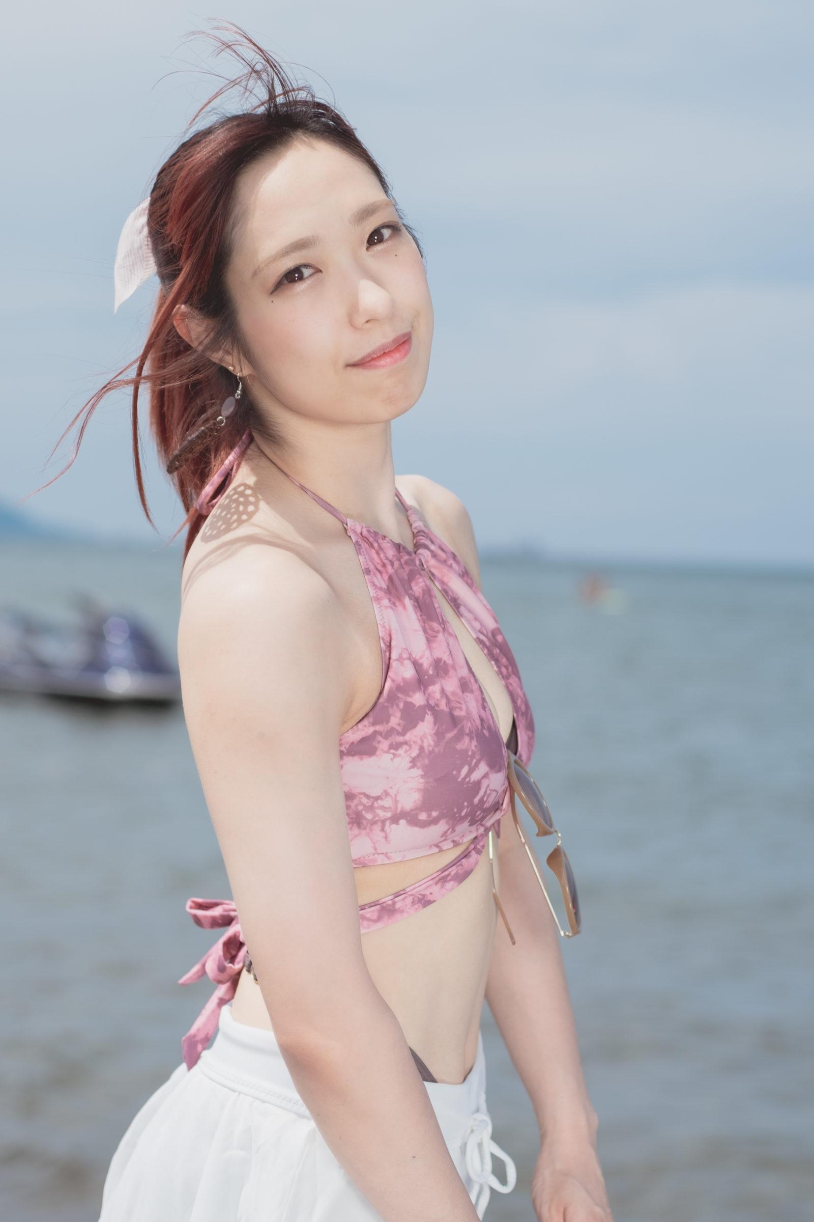 フルーティー♡ おばち ( 小原優花 )   ライブプロ海イベント2020水着撮影会