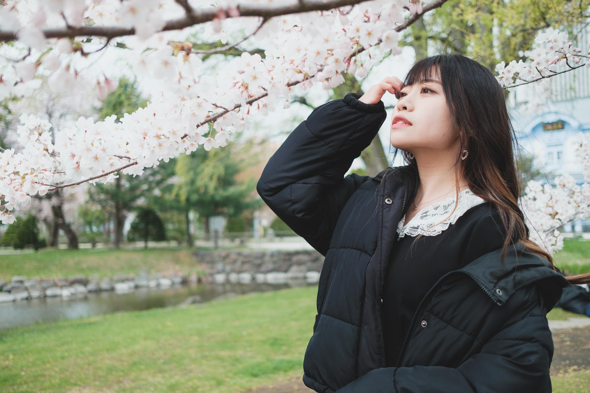 HAPPY少女♪ れいか ( 鳴海れいか ) | SMP 札幌モデルプロ「桜」撮影会 at 中島公園