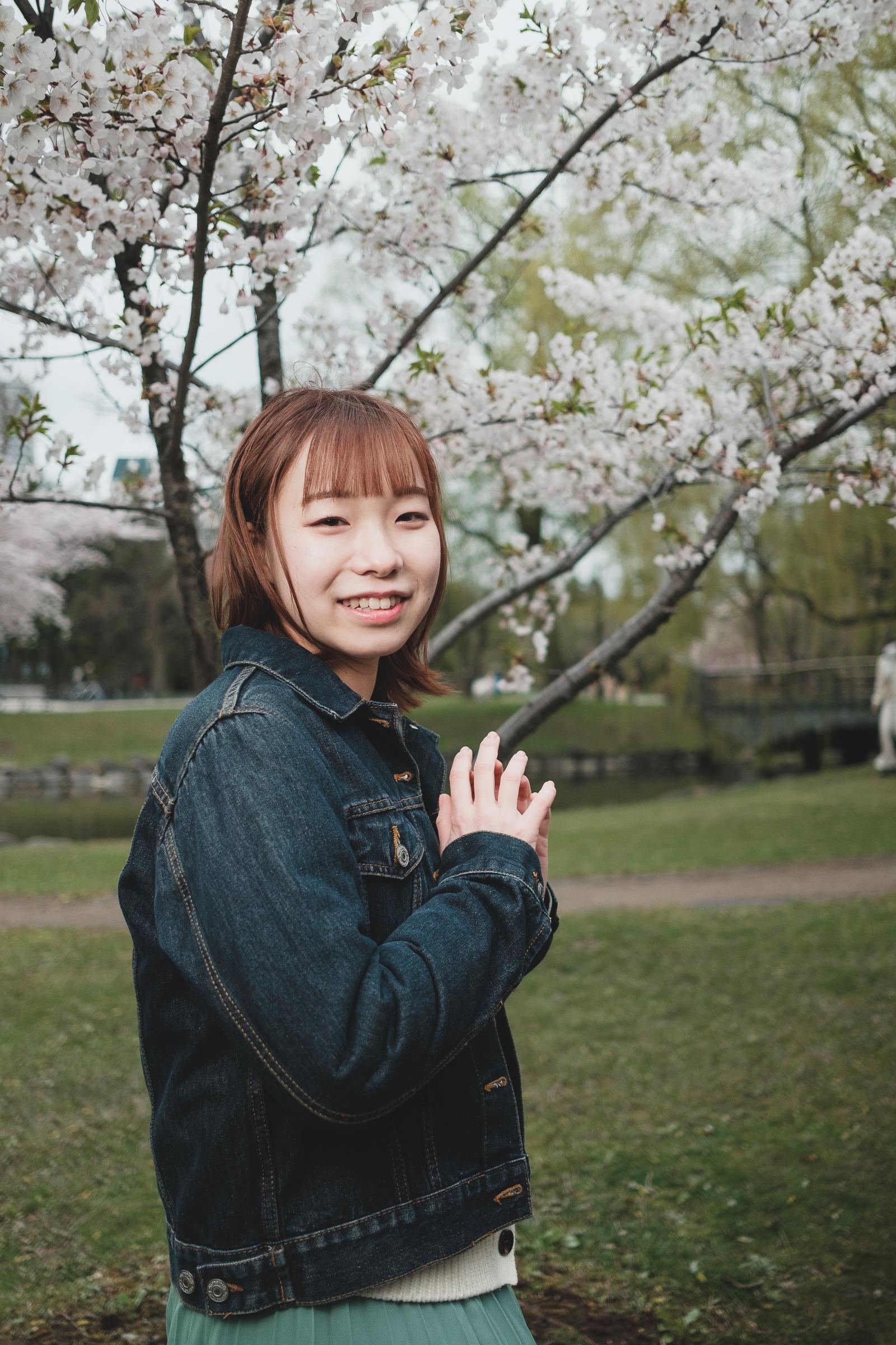 HAPPY少女♪ やよたん ( 藤本やよい ) | SMP 札幌モデルプロ「桜」撮影会 at 中島公園